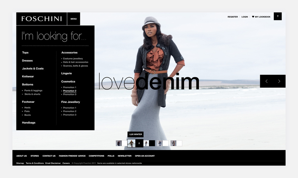 "- The Homepage ""Storefront"" featuring a number of themes"