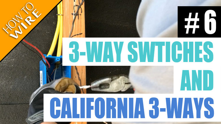 Electrician U — Episode 6 - How To Wire For And Install 3 ... on 3-way electrical switch, 3-way diagram, 2 pole switch schematic, 3 wire switch schematic, 3-way light switch, 3 position switch schematic, 3-way switch schematic, 3-way switch install,