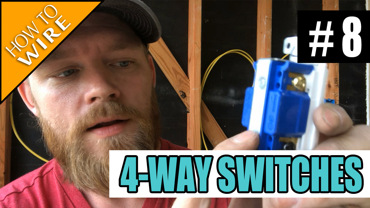 Electrician U Episode 8 How To Wire And Install 4 Way Switches The Switch Boxes One For Each Set Of Lights On A Three Pair