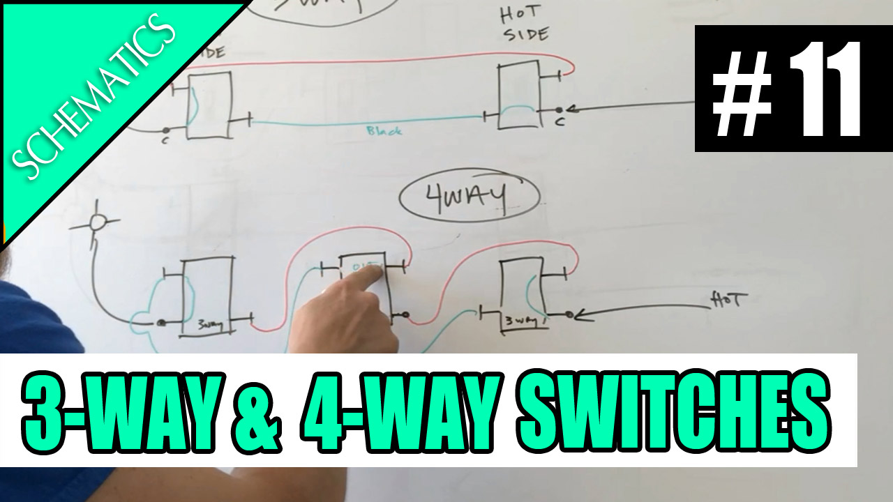 Electrician U Episode 11 Schematics How 3 Way And 4 Schematic Of Four Switch Switches Work