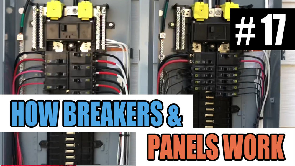 Electrician U — Episode 17 - How Circuit Breakers And Electrical on electric circuit contactor, electric push button panel, electric heat pump, electric main breaker panel, electric cable, electric lights, electric water heater, electric fuse panel, electric circuit motor, electric smoke detector, electric wiring panel, electric motor starter panel, electric hydraulic pump,