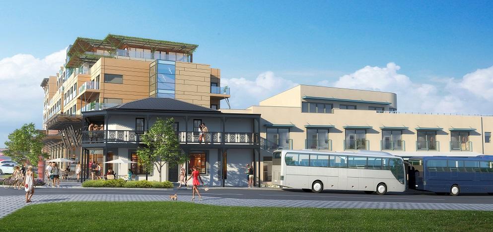Final approved design for site corner
