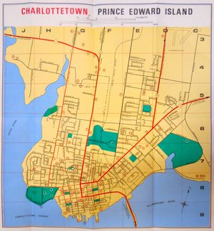 map of charlottetown pei