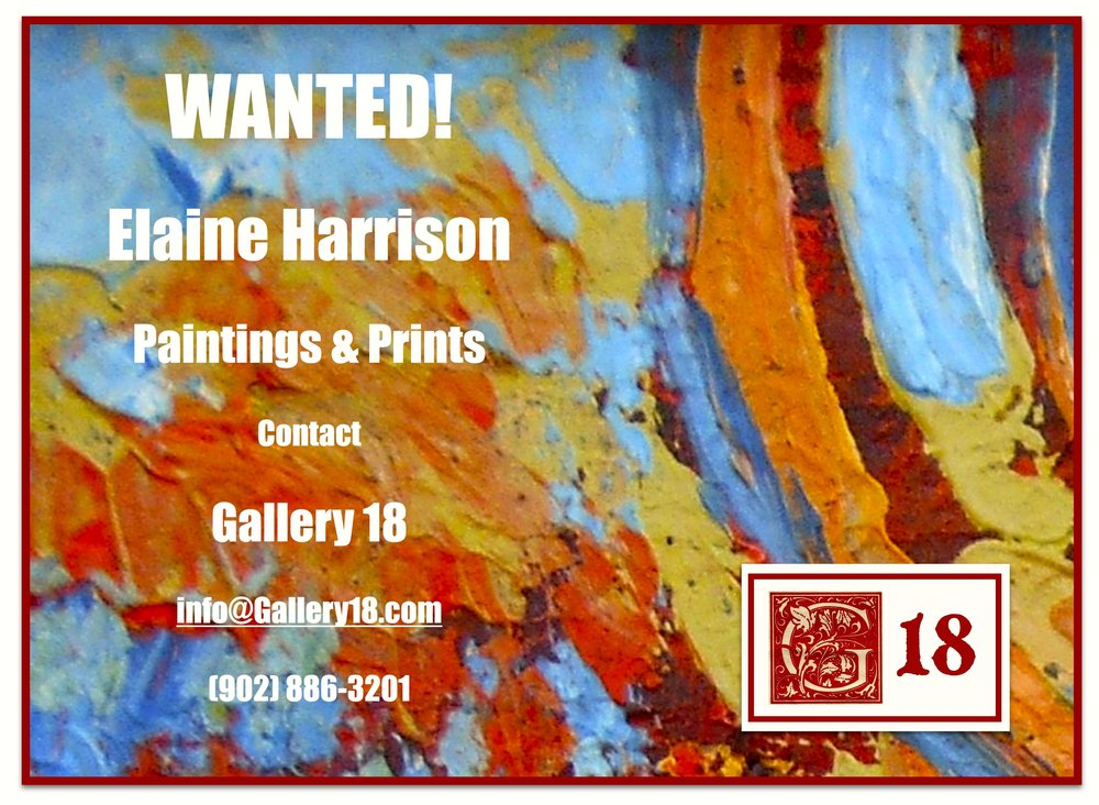 Gallery 18 is also interested in work by other PEI artists. Contact us for more information!