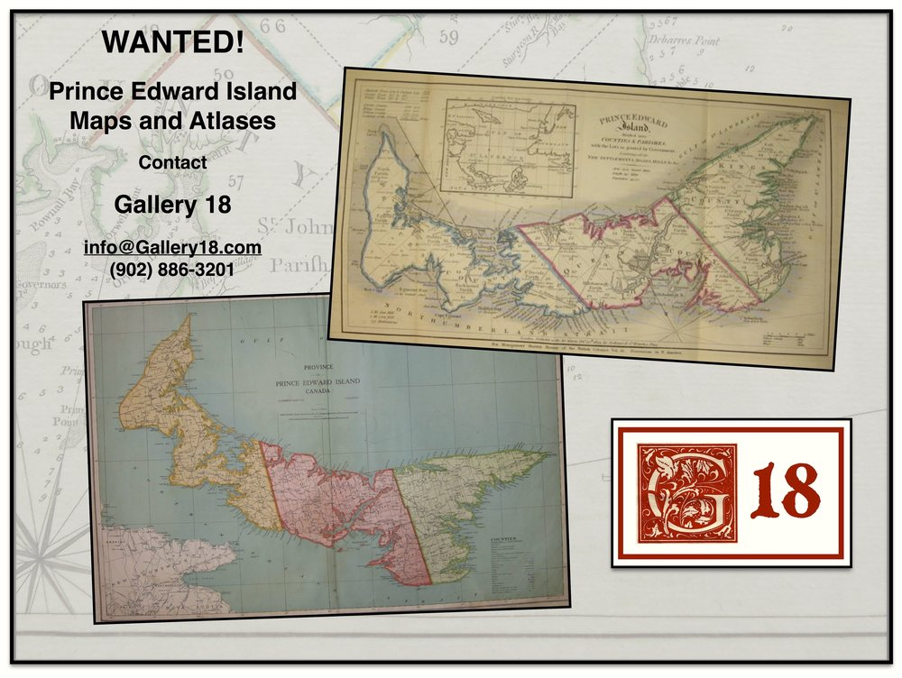 Gallery 18 is also interested in old maps, atlases, and sea charts from around the world. Contact us for more information!
