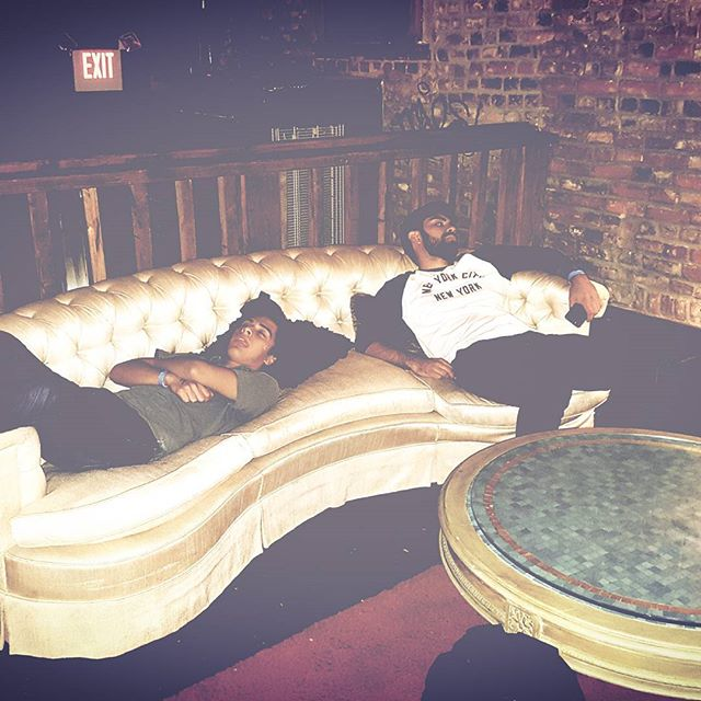 taking naps @staffordtheater with @yeehatheband