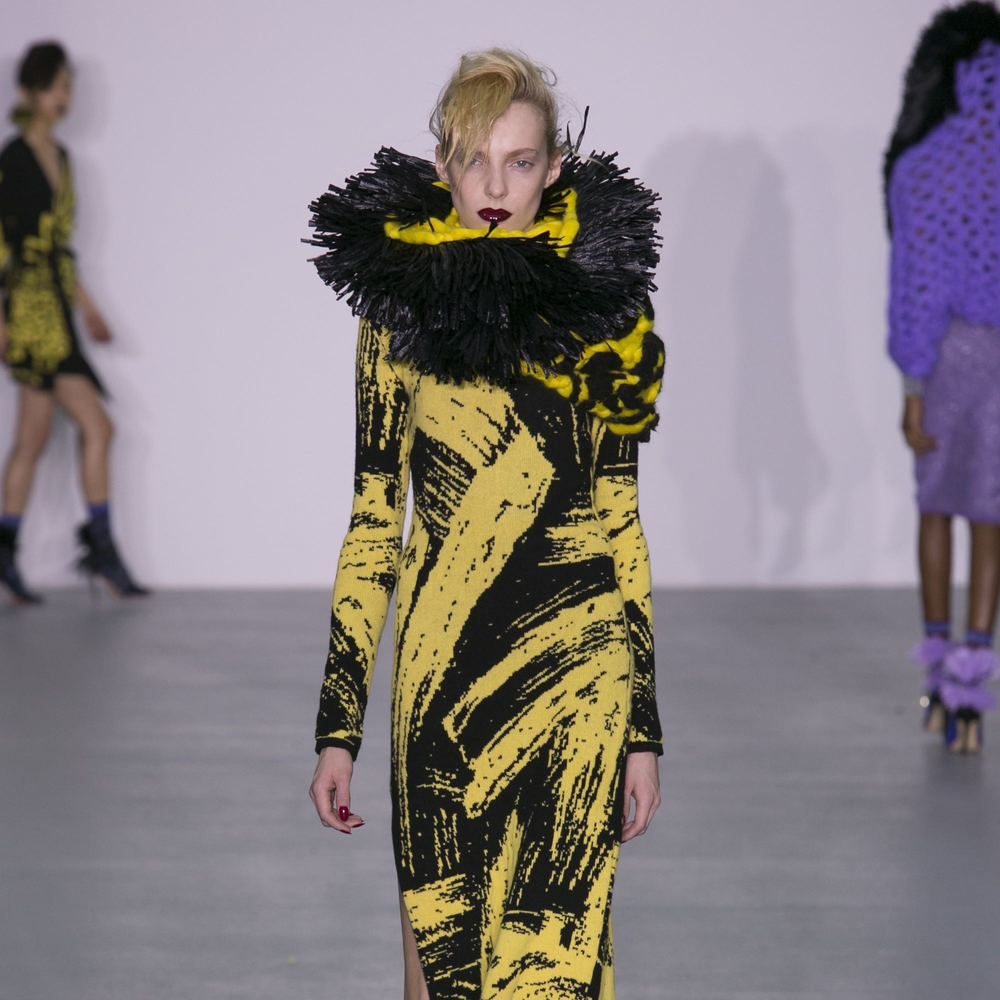 LFW: SiblingSpindle Magazine - SIBLING AW16 pays homage to Grace Jones in full flurry.