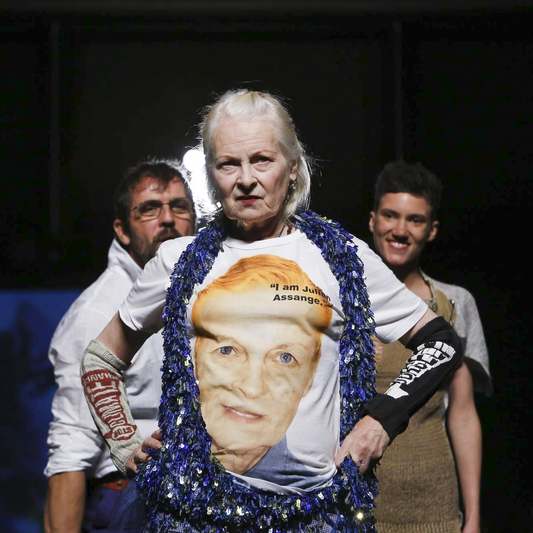 Vivienne Westwood's Modern ManFoxes Magazine - Vivienne Westwood and husband Andreas Kronthaler have returned to Milan with a SS17 menswear collection that promotes gender fluidity within modern day fashion design.