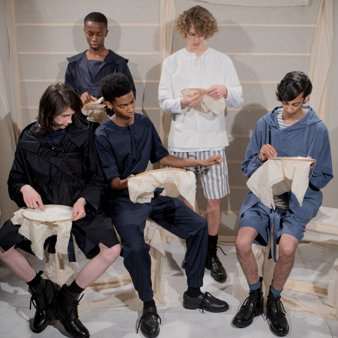LCM: Phoebe English Men'sSpindle Magazine - Known for her use of fabrics and contrasting textures and structures, Phoebe English returns with her third menswear collection and first mens presentation for SS17.