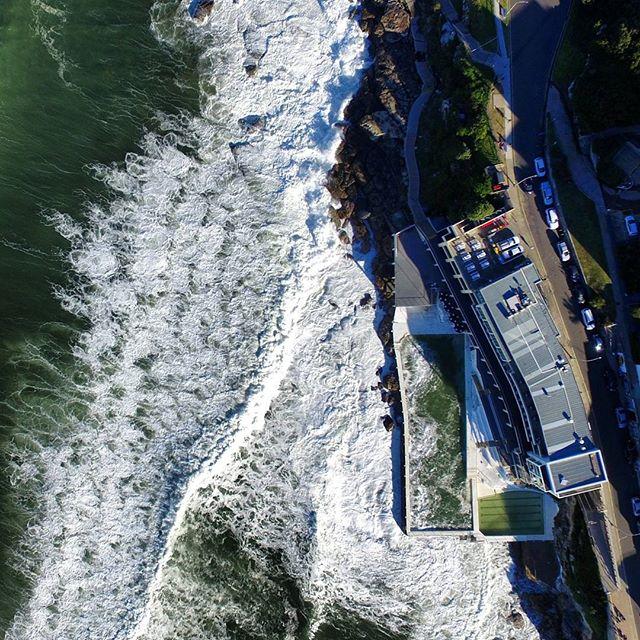 Stormy seas @ Icebergs 🌊⚡💧 #bondibeach #bondi #sydney #australia #wanderlust #instatravel #visitnsw #dji #drone #winter