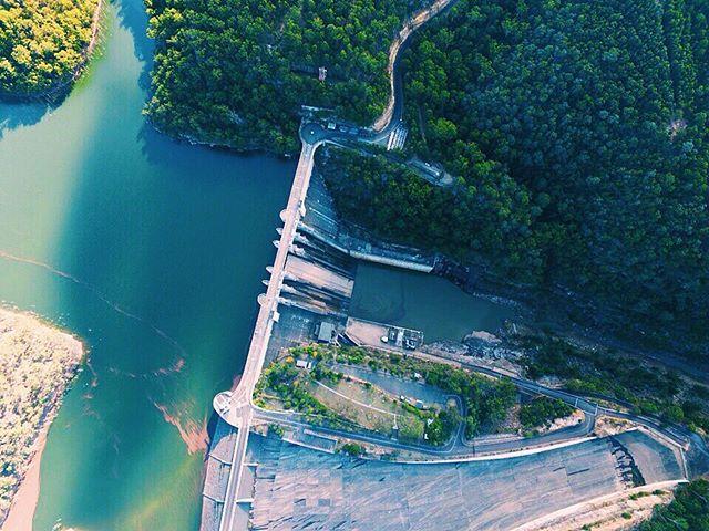 The Warragamba Dam. Sydney's primary water reservoir #australia #sydney #nsw #ilovesydney #travel #travelling #dji #drone #vsco