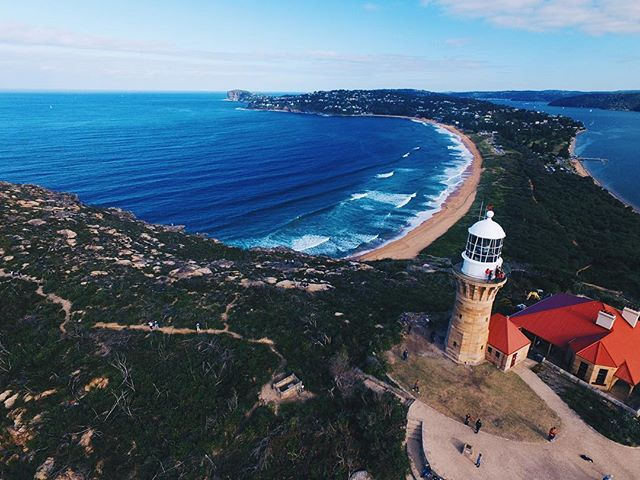 Looking down over Palm Beach from the Barrenjoey Lighthouse yesterday #australia #nsw #sydney #ilovesydney #adventure #travel #travelling #dji #drone #wanderlust