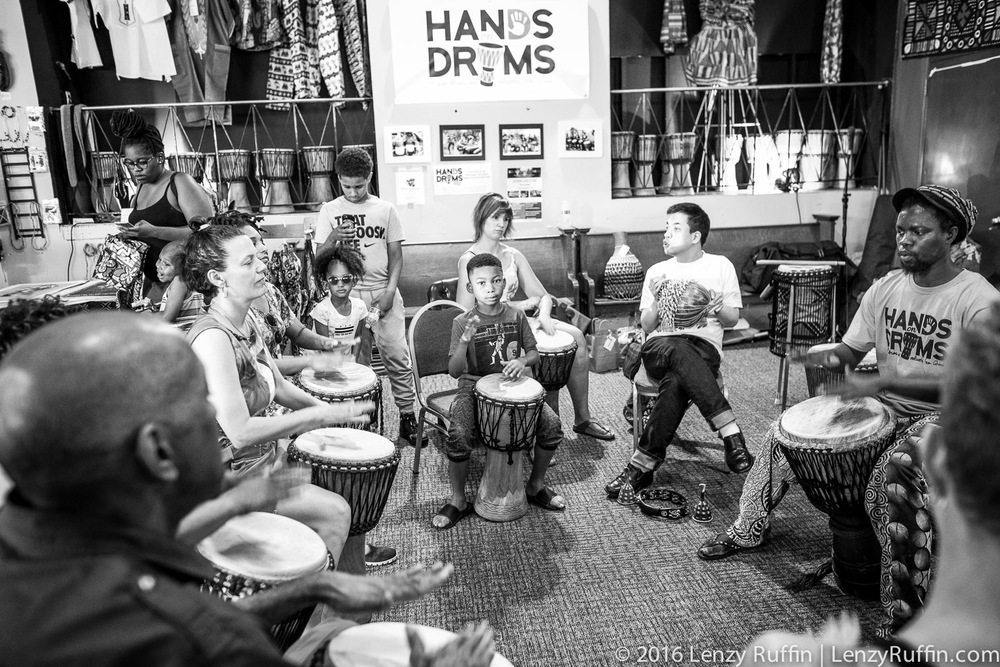 Drum class at Hands On Drums DC.