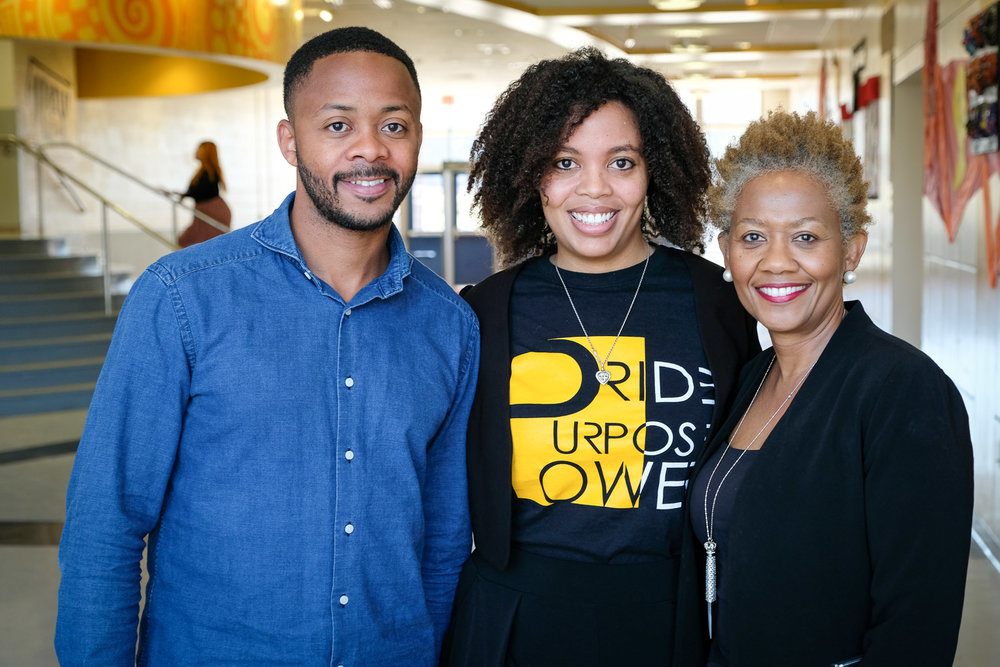 Left: Andre McCain, keynote speaker and Founder/Owner of Half Smoke DC. Center: Samantha Davis, Founder/Director of The Black Swan Academy. Right: Wanda Lockridge, Chief of Staff for Ward 8 Councilmember Trayon White.