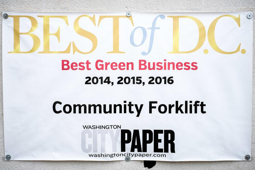 Community Forklift AKA The G.O.A.T. (The Greenest Of All Time)! Visit them at CommunityForklift.org and check out their Etsy page.