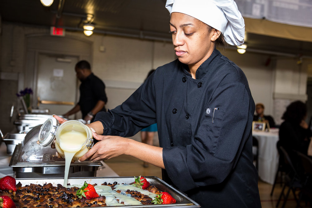 Chef Krys of  Unique Soul Cuisine  doin' what she do! MAN, that food was incredible!!!