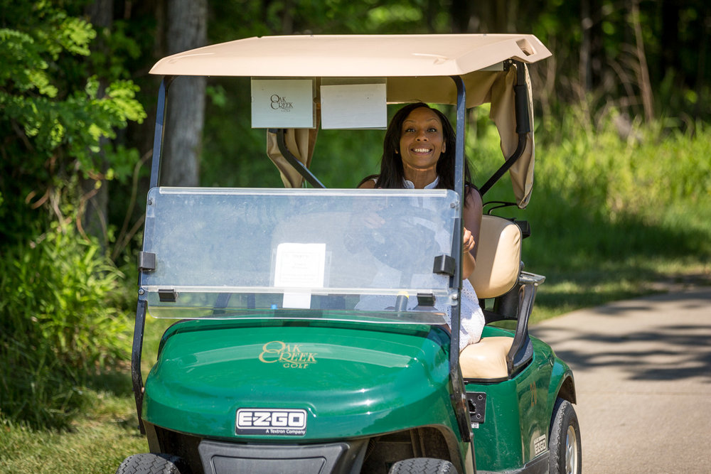 This is Chanel Compton, Executive Director of the Prince George's African-American Museum & Cultural Center. She's also the winner of the Happiest Person to be Driving a Golf Cart award. I looked up and saw this HUGE smile coming around the bend and it only got bigger when she started watching me watching her.