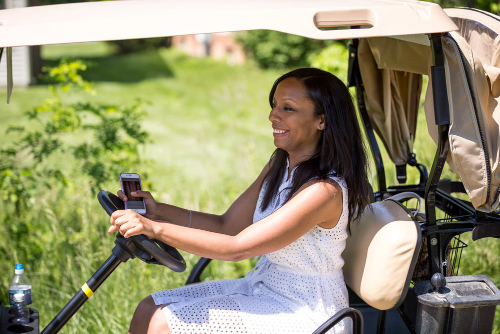 I just feel like she knows something about her driving history that the folks at the golf cart checkout didn't know.