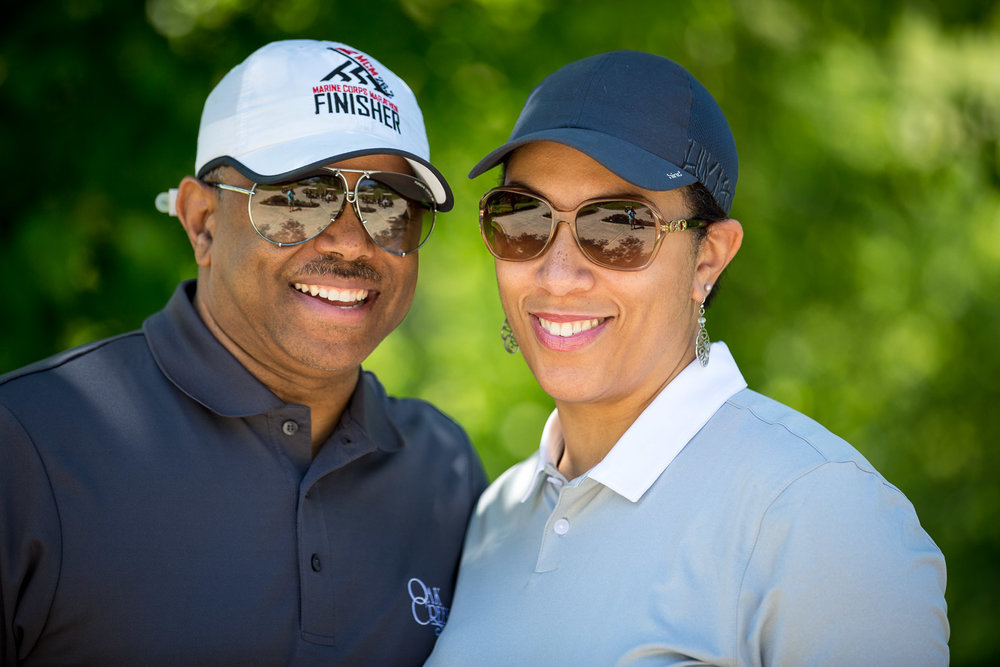 They came out for the golf clinic, but they have already conquered looking the part. LOOK AT THIS GORGEOUS COUPLE! STOP! STARE! BE AWESTRUCK...'CAUSE THEY ARE AWESOME!!! They probably can't play worth a damn, but if you need some models to stand next to your clubs to boost sales, they got you covered!