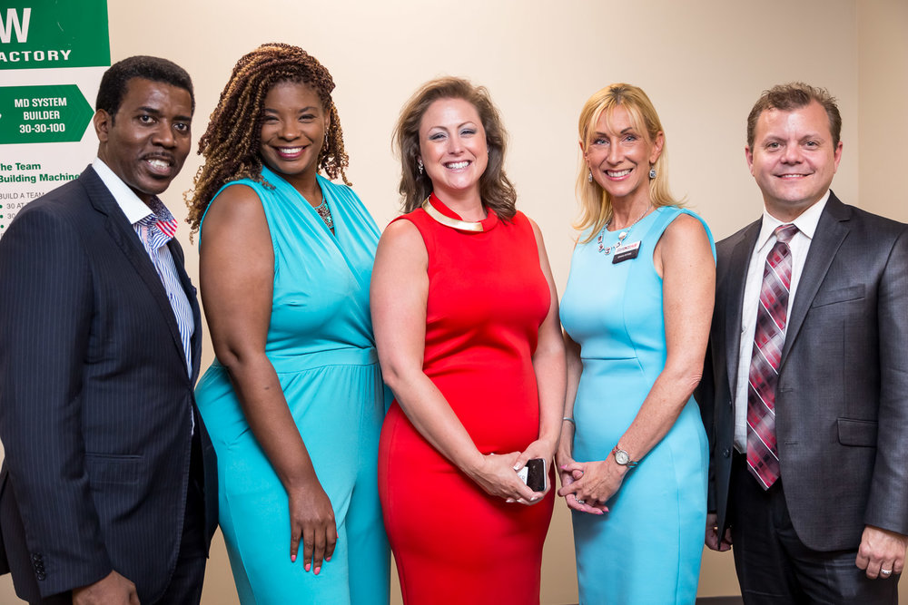 Left to right: Kelvin Harris of  Kel-Star Consulting , Talayia Kelley of  Virtegrity , Frances Reimers of  Firestarter , Dawn Peters of  ConneXion Hub , and Robert Slawinski, serial entrepreneur and Certified Financial Educator.