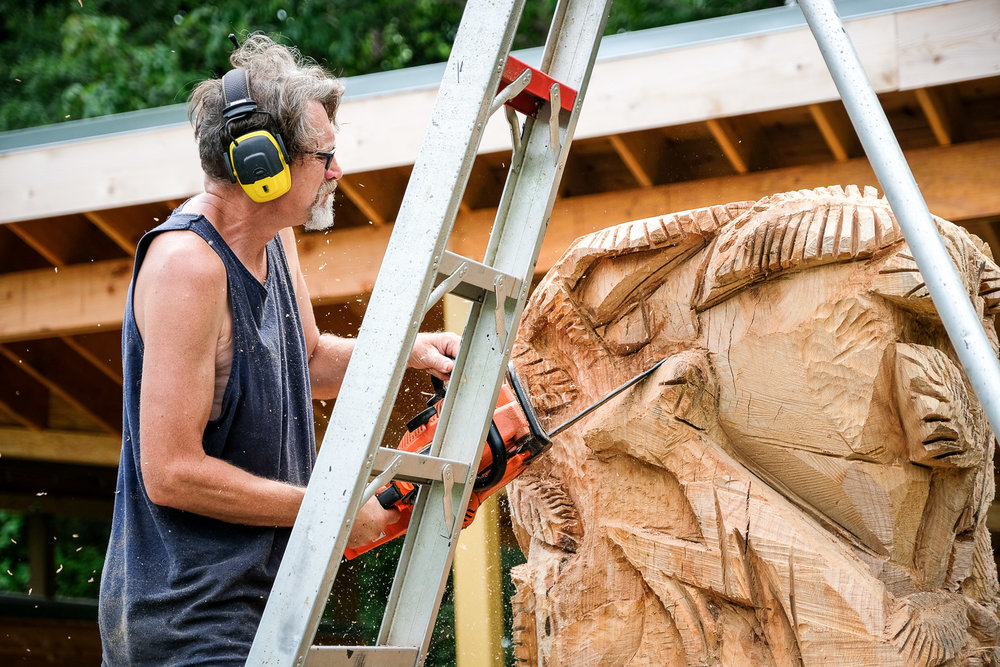 Glenn can also carve your portrait out of wood in 17 minutes. This guy is insanely talented. But we'll discover later in the post that his talent is not limitless. He does have an Achilles...