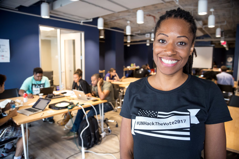 Meet Amy Lee Walton, Personal & Professional Development chair for  Thursday Network . Also Chief Hacker for the day. Also gorgeous...look at that smile! The Hackathon was Amy Lee's brainchild.