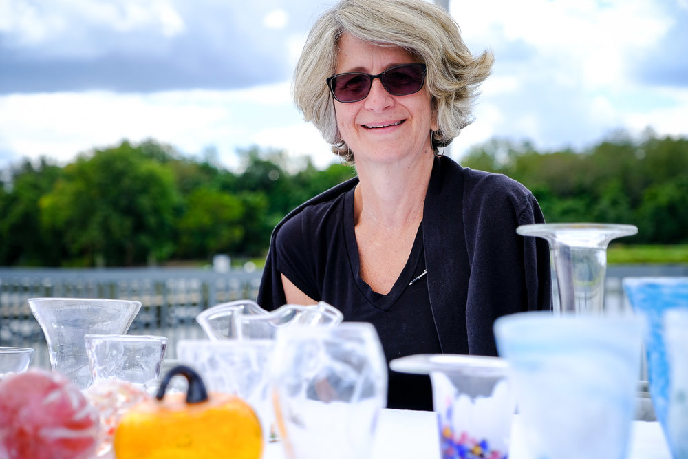 This is Shari Flynn and she's a glassblower.