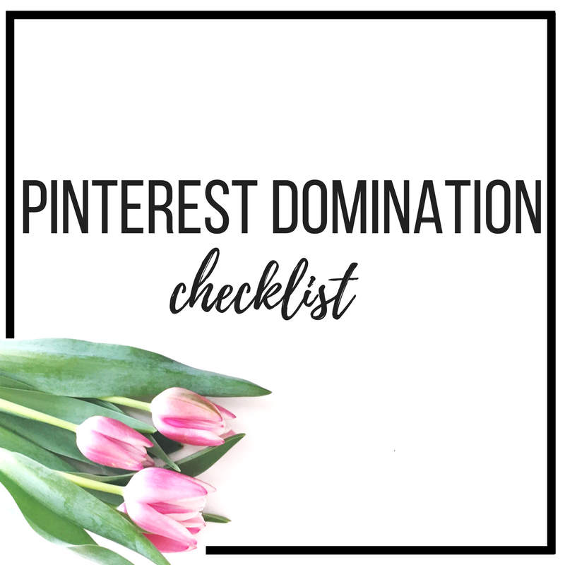 pinterest domination checklist