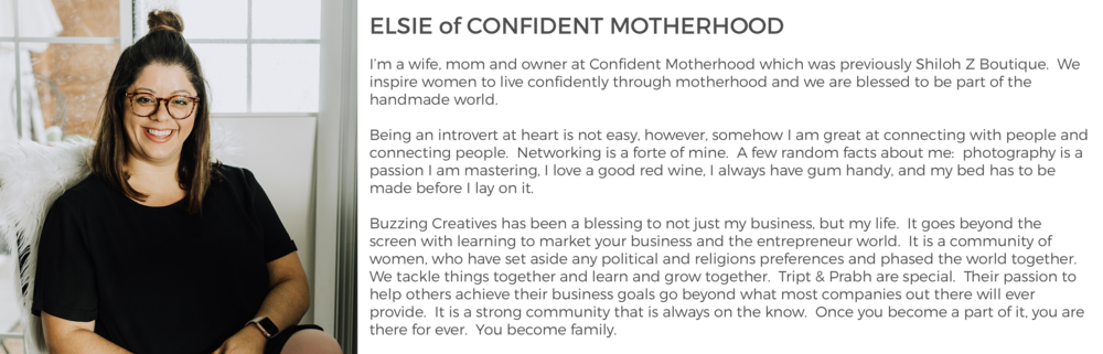 Community Member Elsie of Confident Motherhood