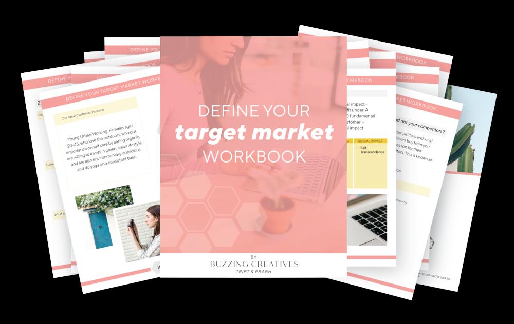 buzzing creatives target market workbook