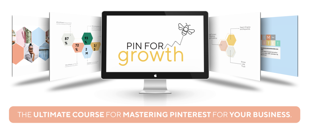 PIN FOR GROWTH - Pinterest Course by Buzzing Creatives