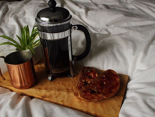 Late start to the day... Coffee in bed. - - - #breakfast #coffee #vsco #bed #stevenandsons