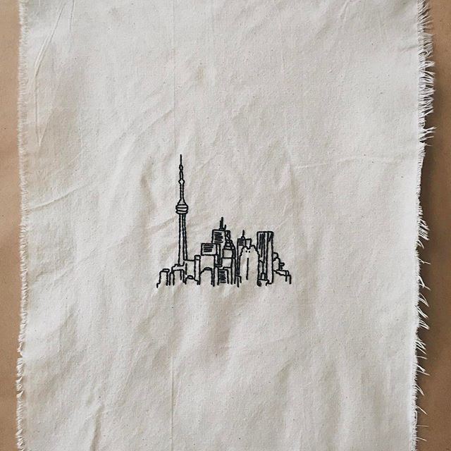 Toronto - embroidery by me