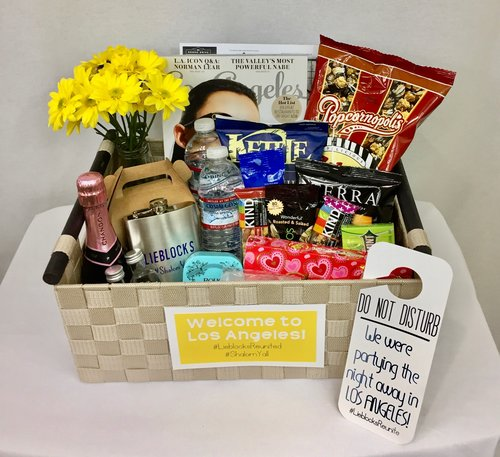 Custom Los Angeles Welcome Basket