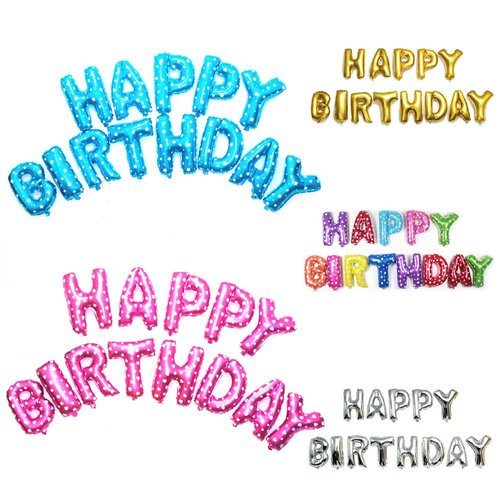 Happy Birthday Foil Balloons Product Image 375783756