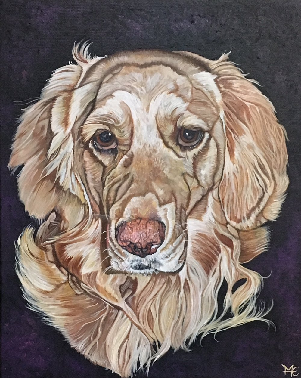 "Gold/ Lab Mix- Acrylic Paints & Mediums on 16"" x 20"" Canvas"