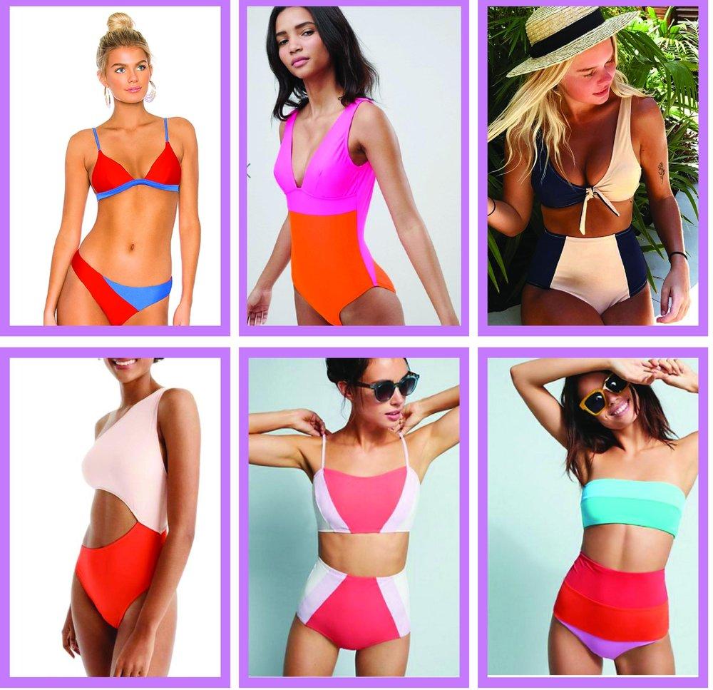color block swimwear styling