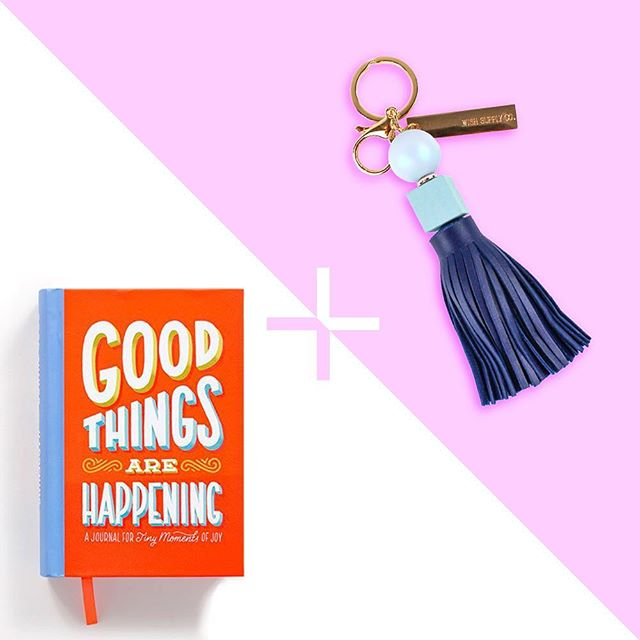 "It's a Keychain Party!! 🎉 🎉 When you purchase the Gratitude Journal ""Good Things Are Happening"" you get a free keychain! ✨💫 Use code KEYCHAIN at checkout and we'll email you to select the color of your FREE keychain! Today only! 🌟🌟🌟 #accessoryoftheday #keychain #pursuepretty #gratitude #goodthingsarehappening #bogo #cyberdeals #accessory"