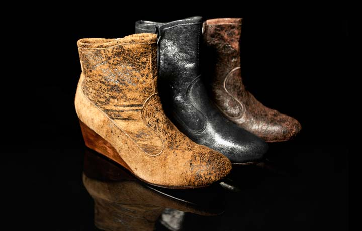 Calleen Cordero Tolosa Leather Wedge Boots