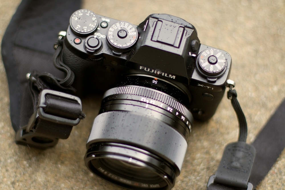 My Fuji X-T1 with the 56mm f/1.2 attached.  The 56mm is my favorite lens for portraits.