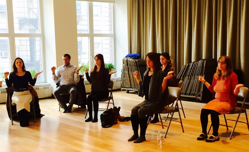 Rita's weekly drop-in lunchtime meditation class at the New York Open Center.