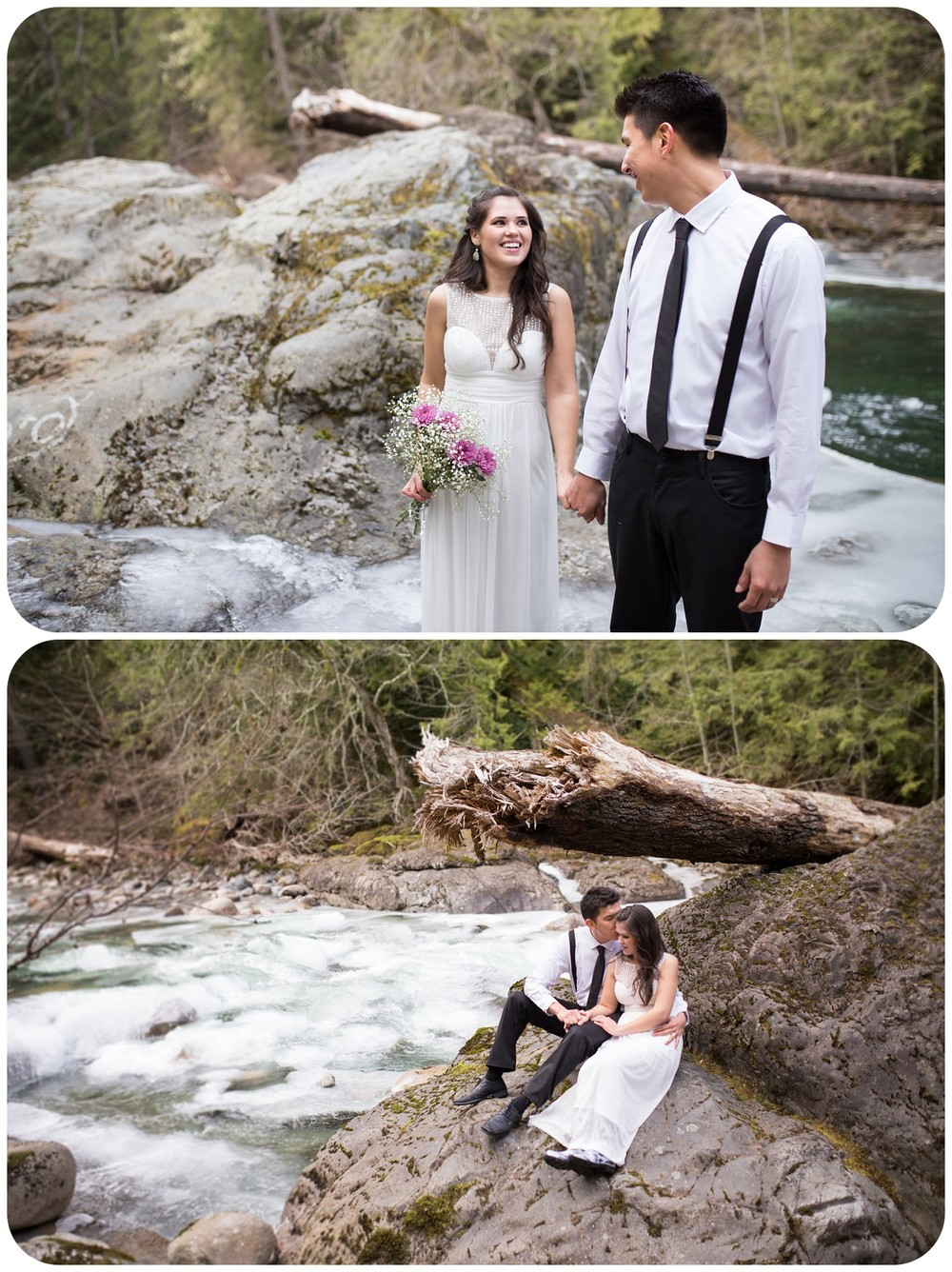 breathtaking wedding photos, river wedding photos, landscape wedding photography, englishman river falls elopement photographer