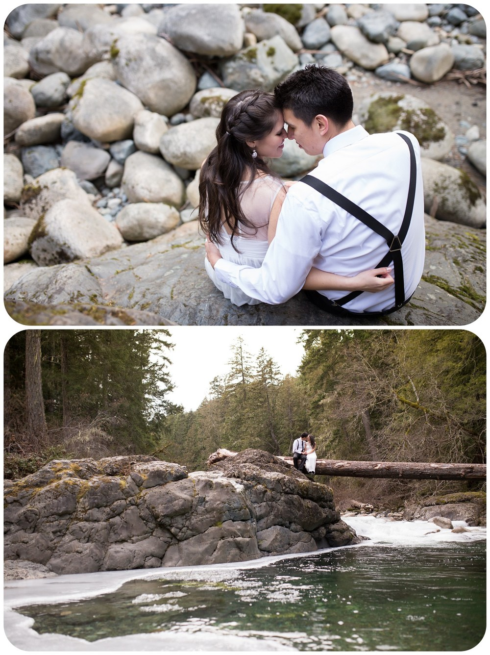 intimate bride and groom portraits, intimate englishman river falls elopement, intimate vancouver island wedding photographer