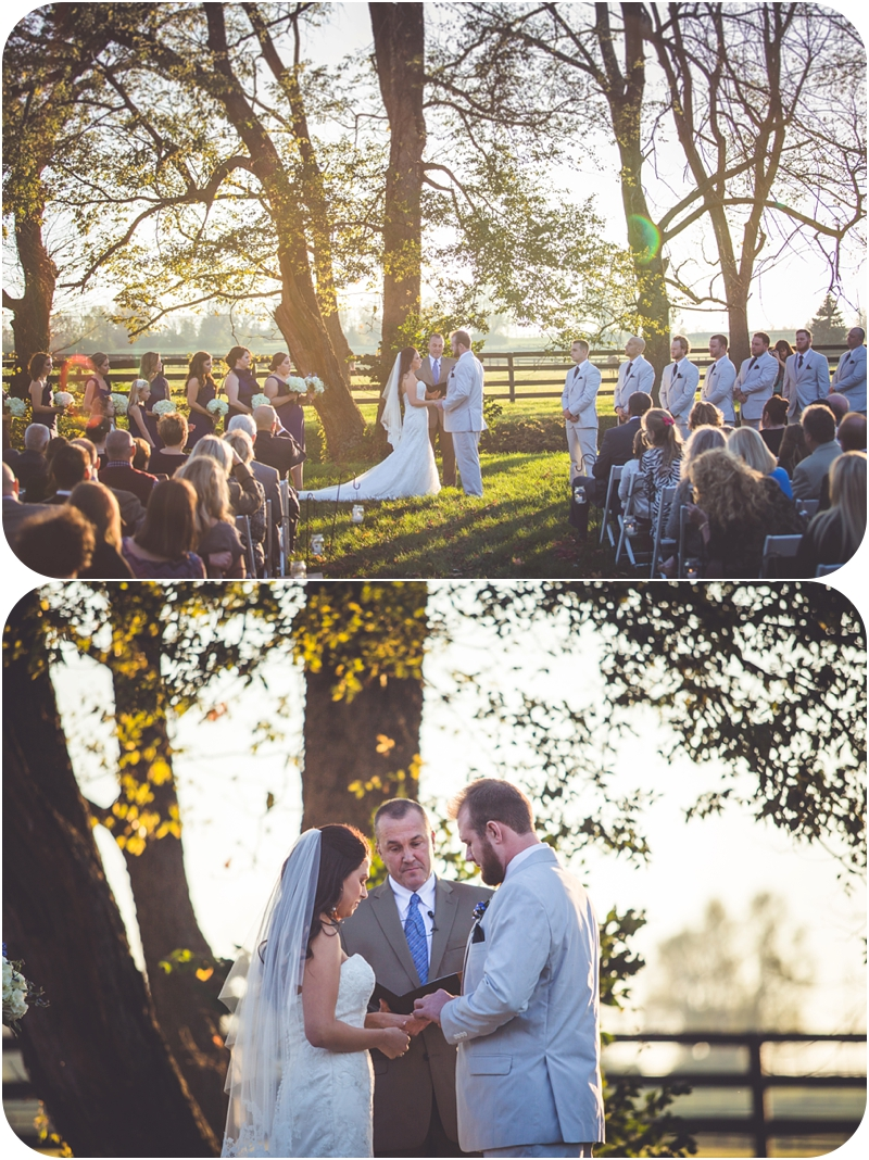 beautiful evening light for october farm wedding at fasig tipton in lexington ky