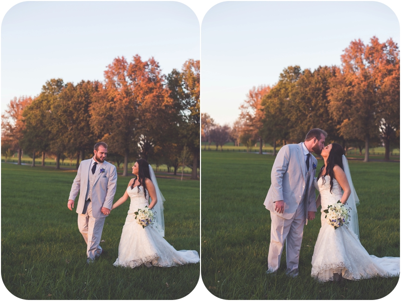 sunset bride and groom portraits on farm photos