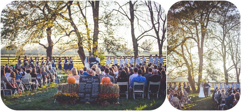 outdoor october farm wedding ceremony lexington KY