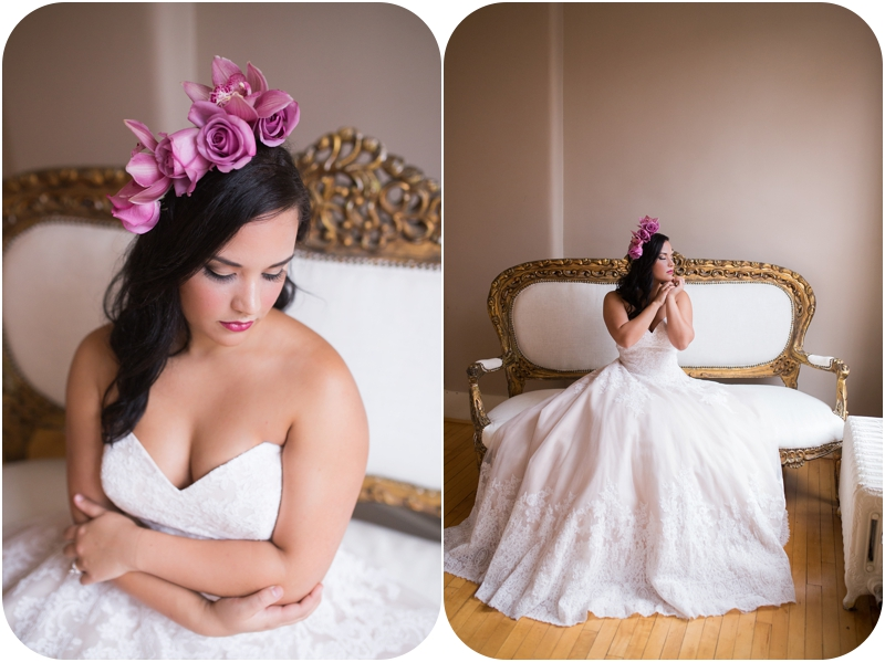 romantic bridal portraits at the loft on spring in new albany indiana