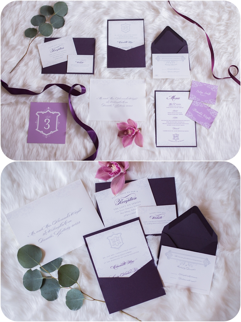 winter wedding stationary by megan wright design co