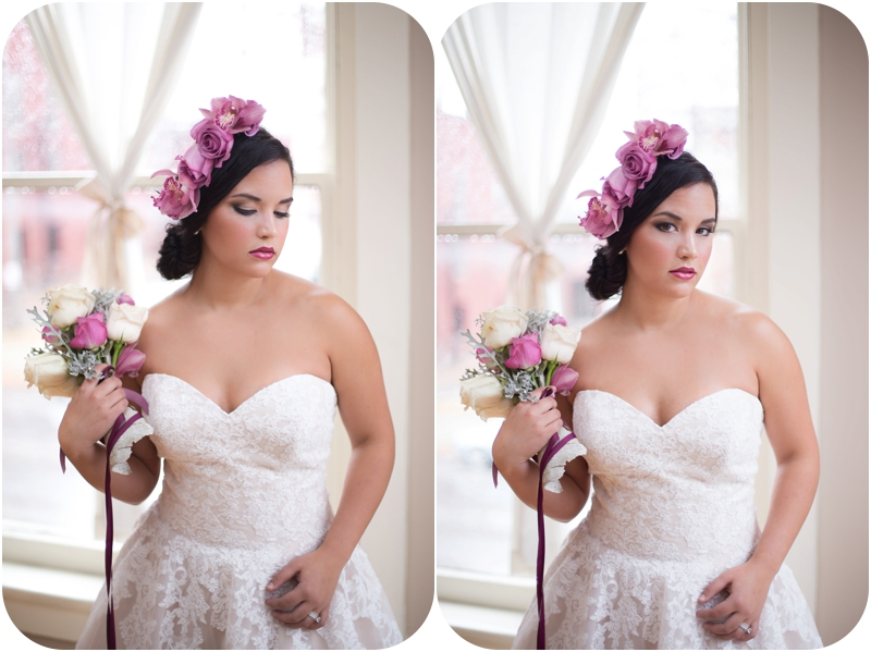 romantic winter inspired bridal portraits in natural light with makeup by michaela frances artistry the loft on spring