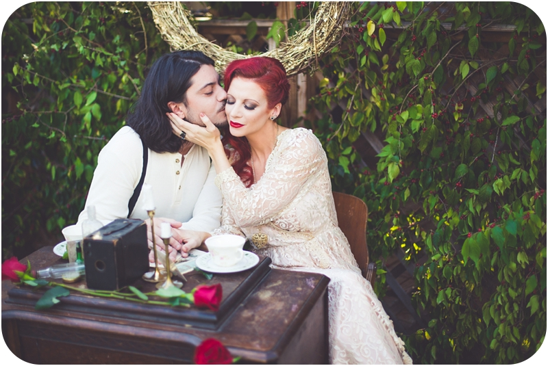 moulin rouge styled shoot, elopement portraits